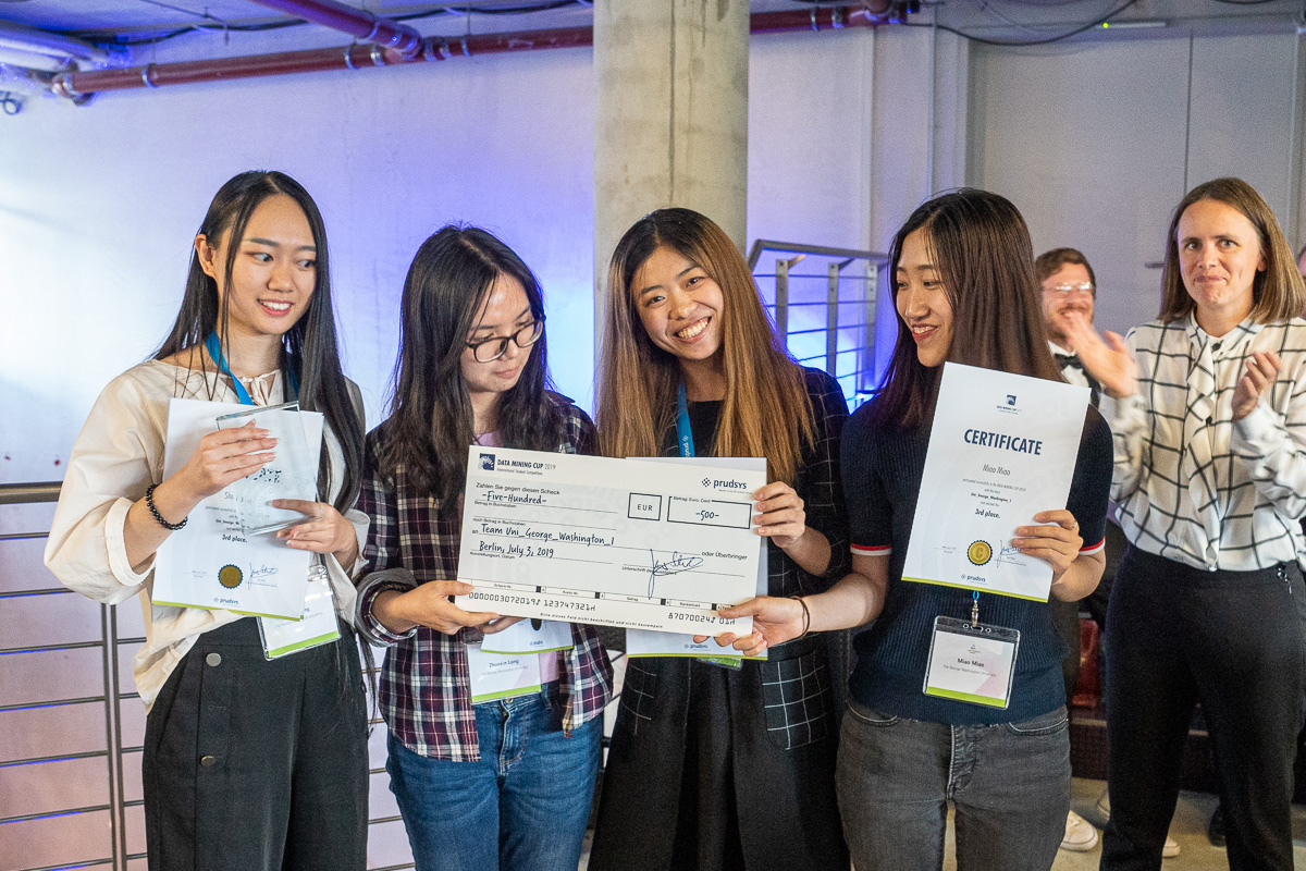 Third place of the DATA MINING CUP 2019 from The George Washington University