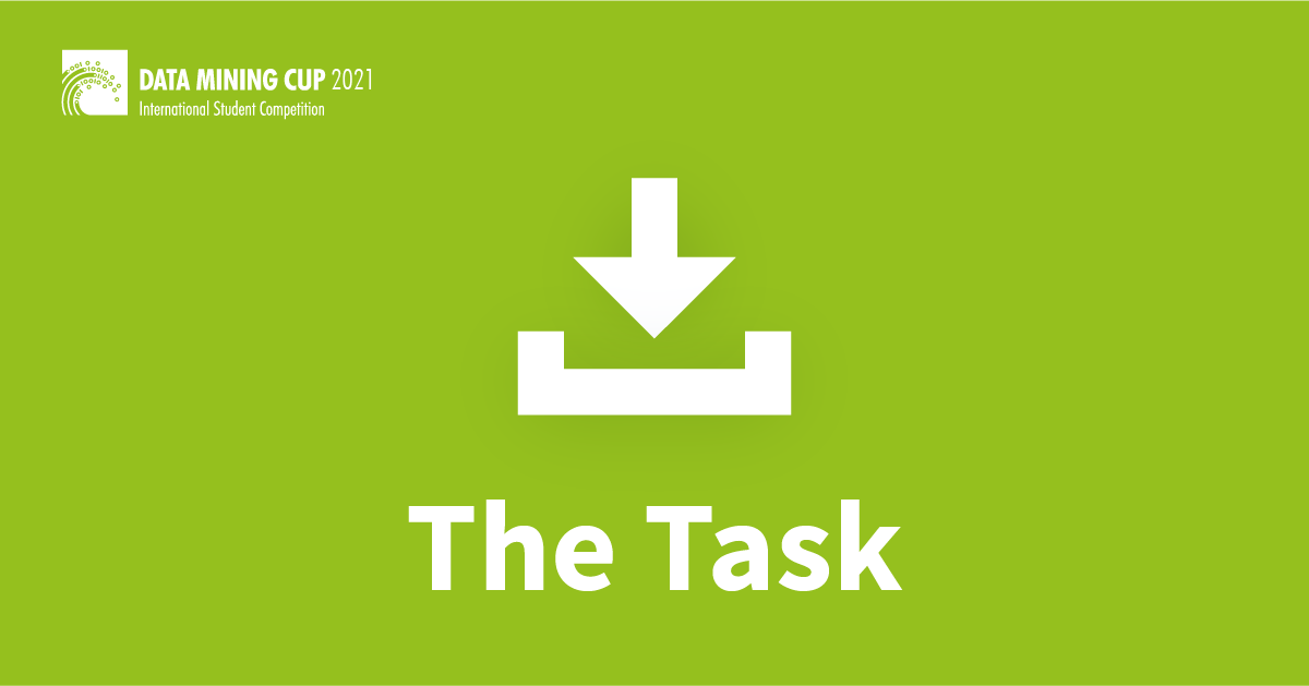 task DATA MINING CUP 2021 , prudsys, GK Software SE